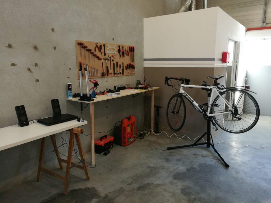 Atelier de réparation de vélo Echirolles